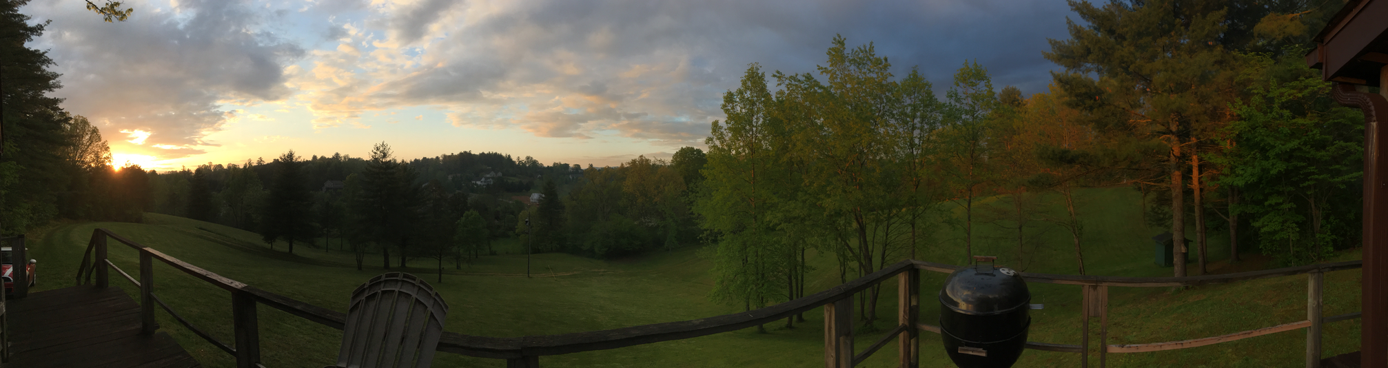 Panorama off the deck at North Carolina at sunset. Original scene where the memory takes place.