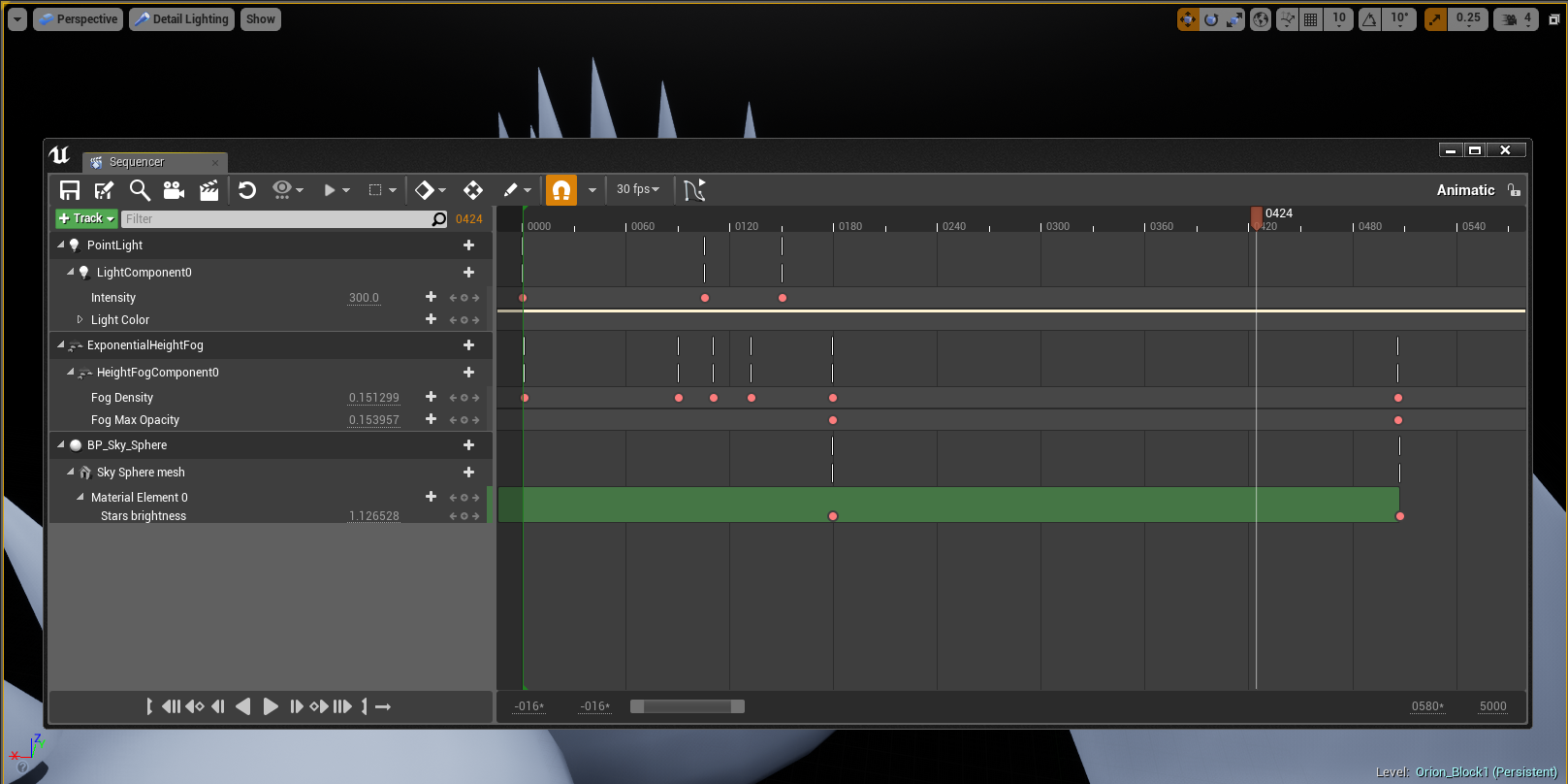Current state of the sequencer, using to coordinate my animations.