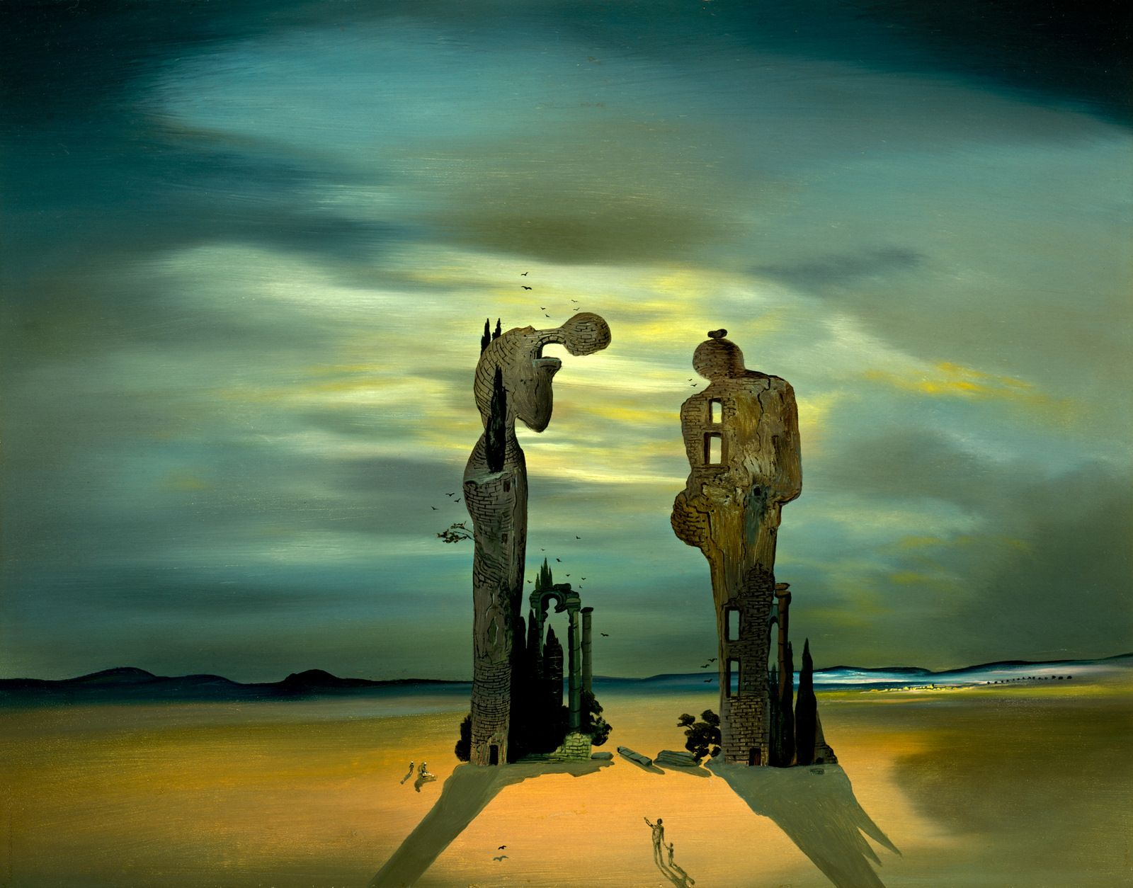 """Archaeological Reminiscence of Millet's 'Angelus'"", Dali."