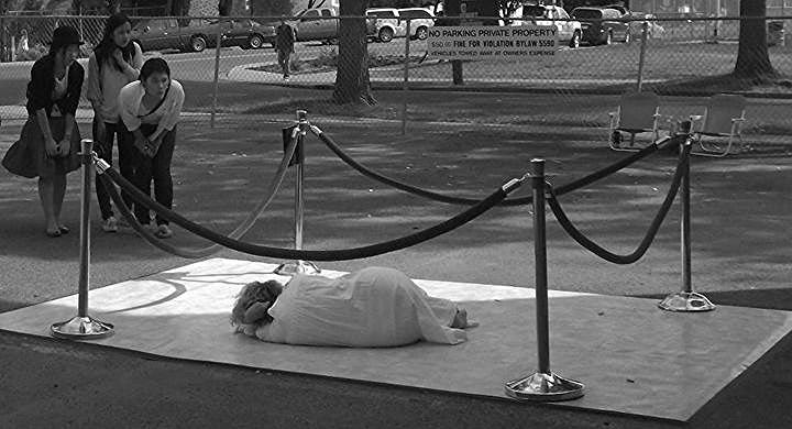 WHITE LINOLEUM (Performance Insatallation) by Heather Inglis