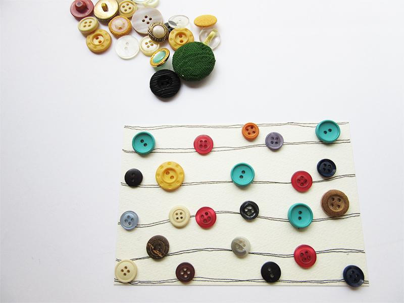 Estudo de estampa com botões