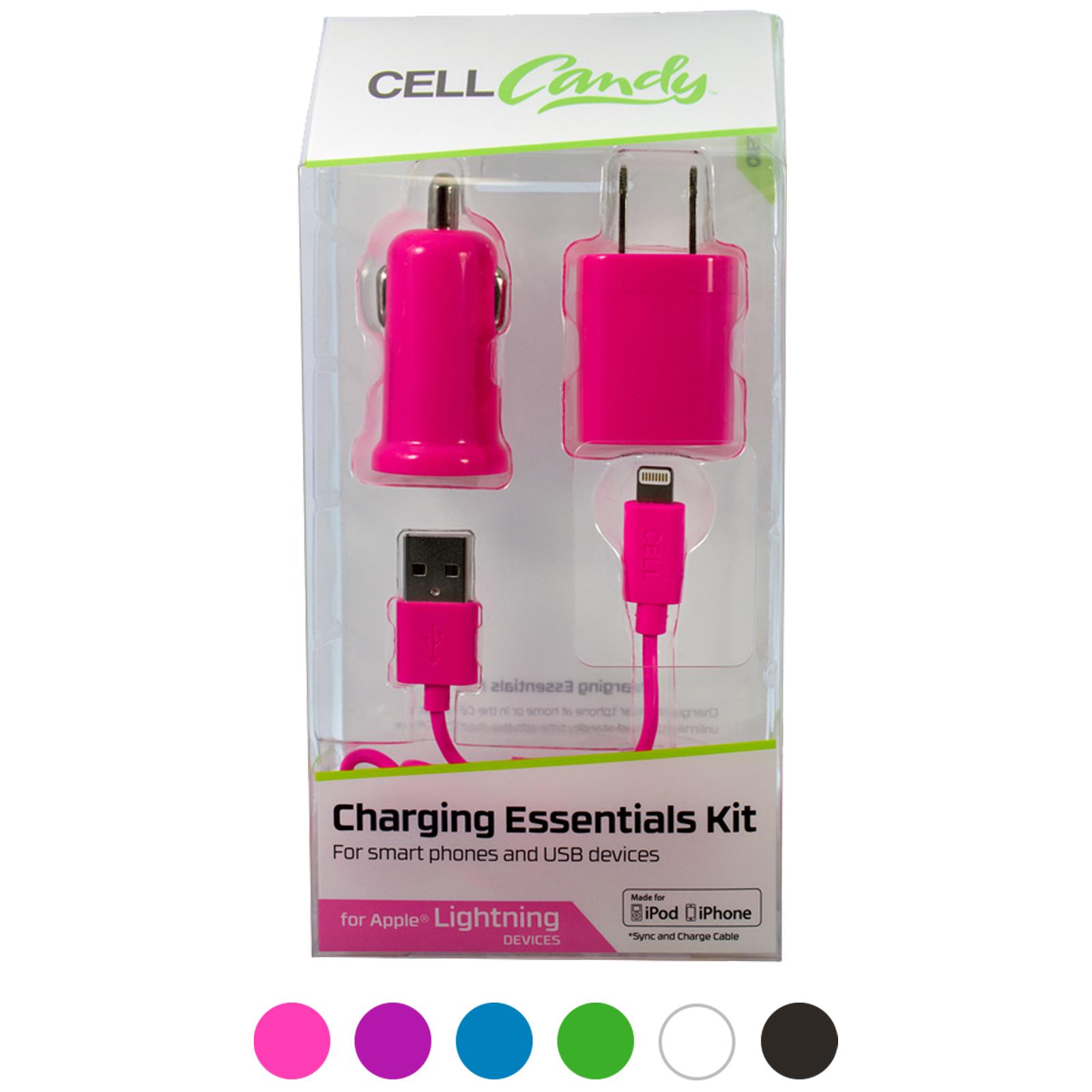 3 Piece Apple 8Pin MFI Charging Essentials Kit