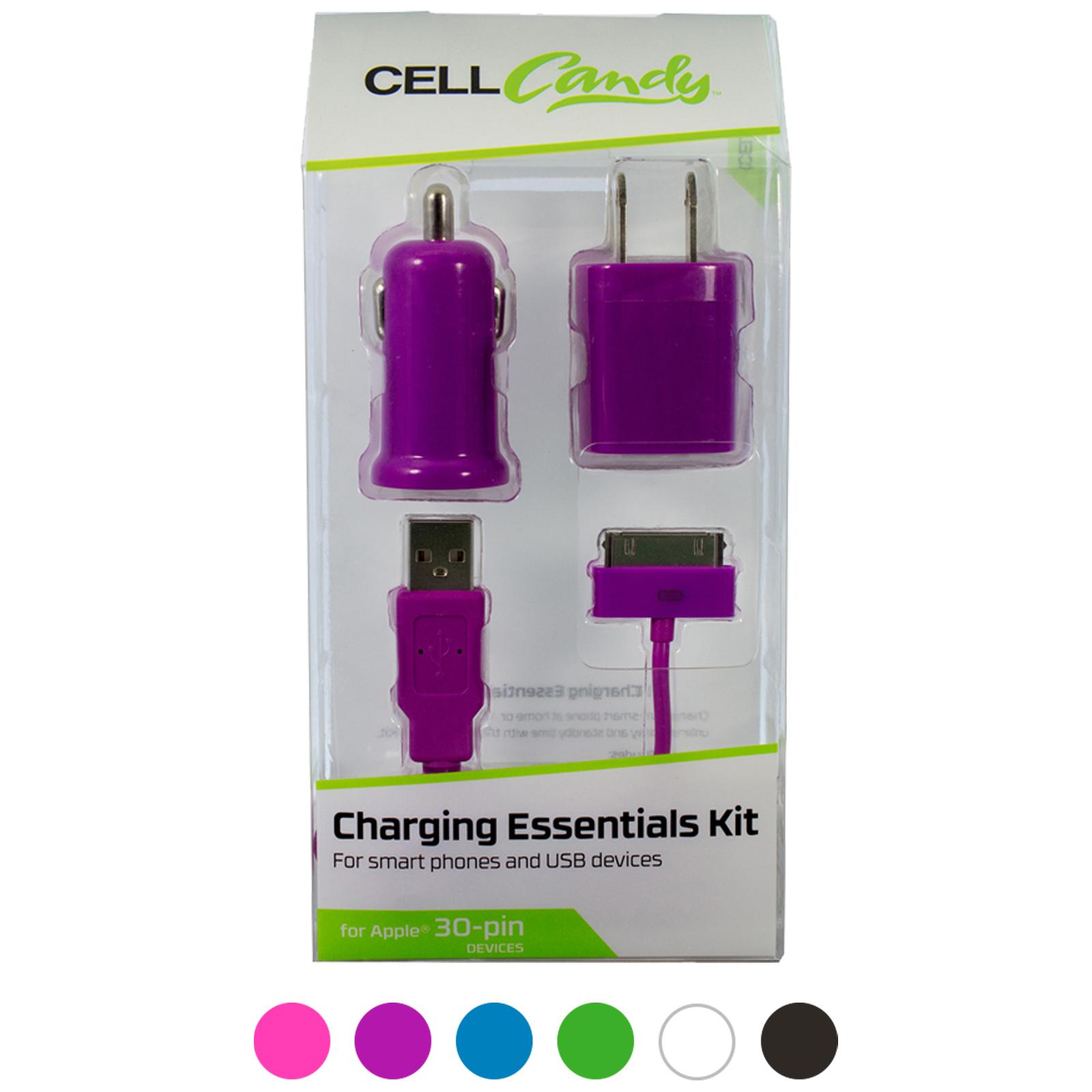 3 piece Apple 30 Pin Charging Essentials Kit