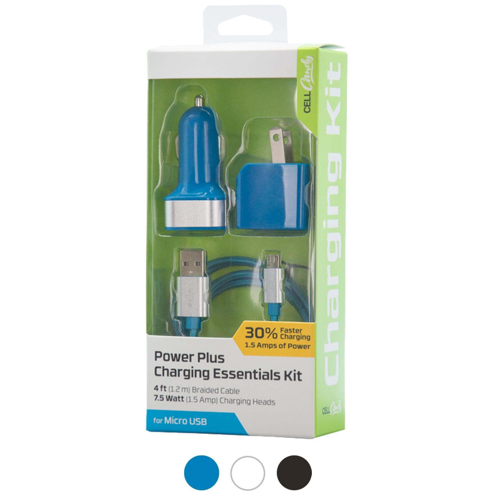 3 Piece Micro USB High Power Charging Essentials Kit