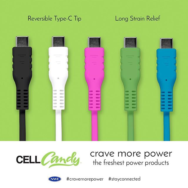 Craving some #color? CellCandy reversible Type C cable has never been #sweeter http://ow.ly/9YHj30eCWKD