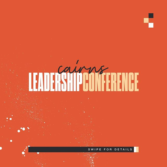 We couldn't be more excited to have special guests Ps Daniel Zelli & Ps Katherine Ruonala  for our Leadership Conference. Visit our website to register NOW! Price breaks ends August 6th -  Swipe through for more details.