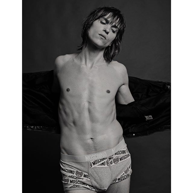 @maybeemil channeling Jim Morrison. Grooming by @mickbeauty styling by @circonkay . . . . . . . . . #fashion #fashionmagazine #menstyle #editorial #mensfashion #mensunderwear #briefs #leatherjacket #retro #jimmorrison #thedoors #malemodel #losangeles #abs #fashionphotography #topman #abs #fitness #physique #malefigure #moschino
