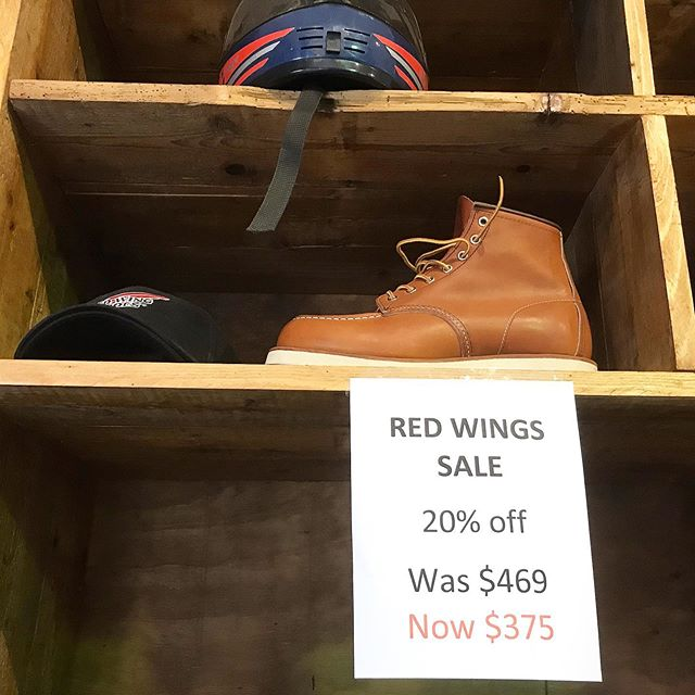 . Holy shit! That's right! 20% off Red Wings 30% off clothes  40% off vintage  50% off vinyl . Ending soon. . #wherethefuckisnotown