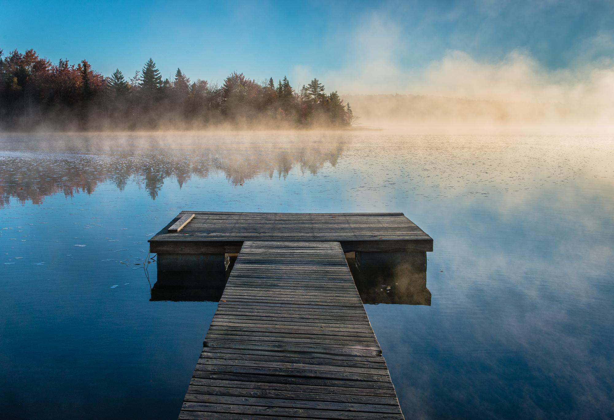 Leadng lines - McCabe Lake, Nova Scotia