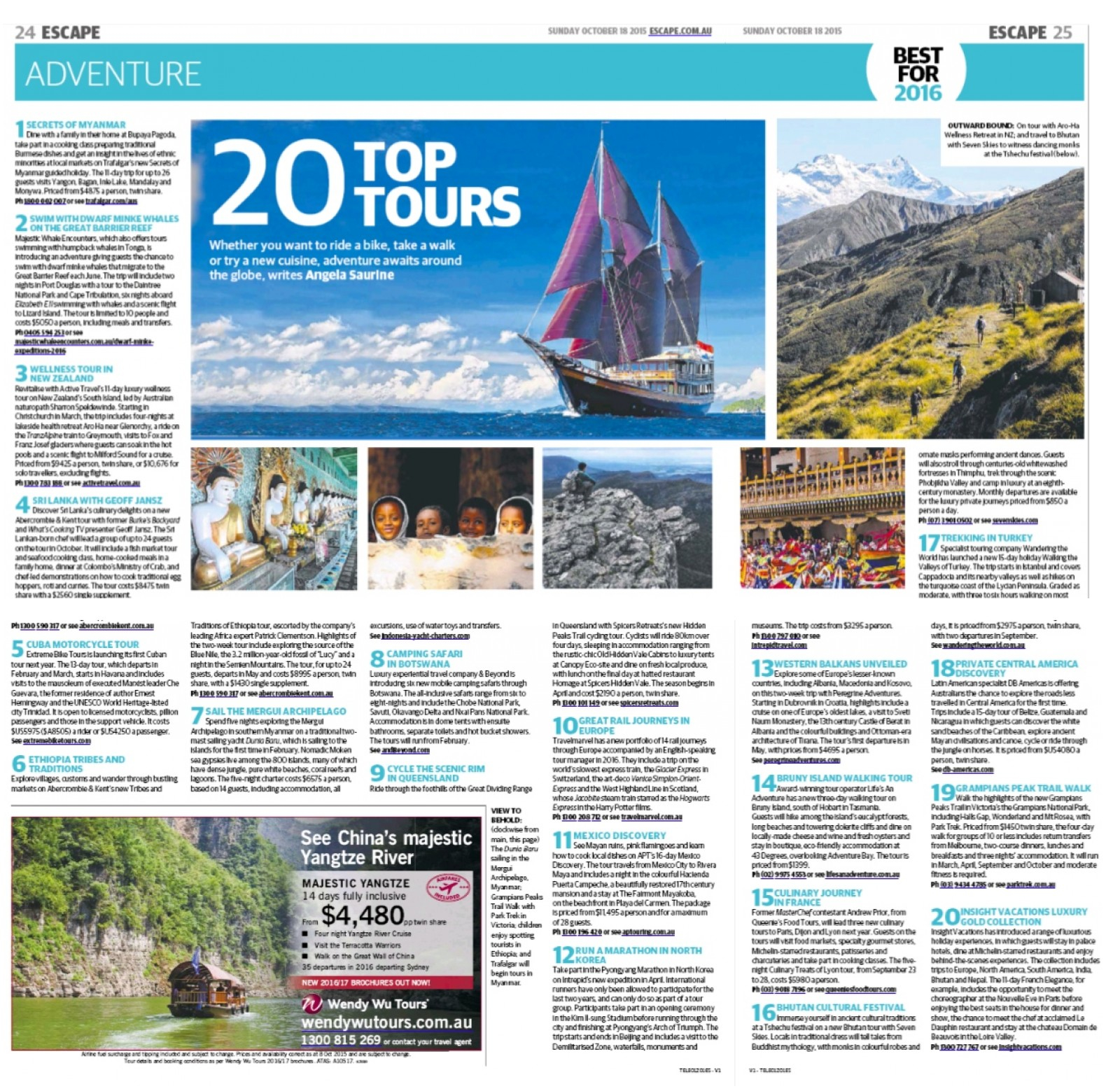 The Sunday Telegraph Australia Escape 18 October 2015.jpg