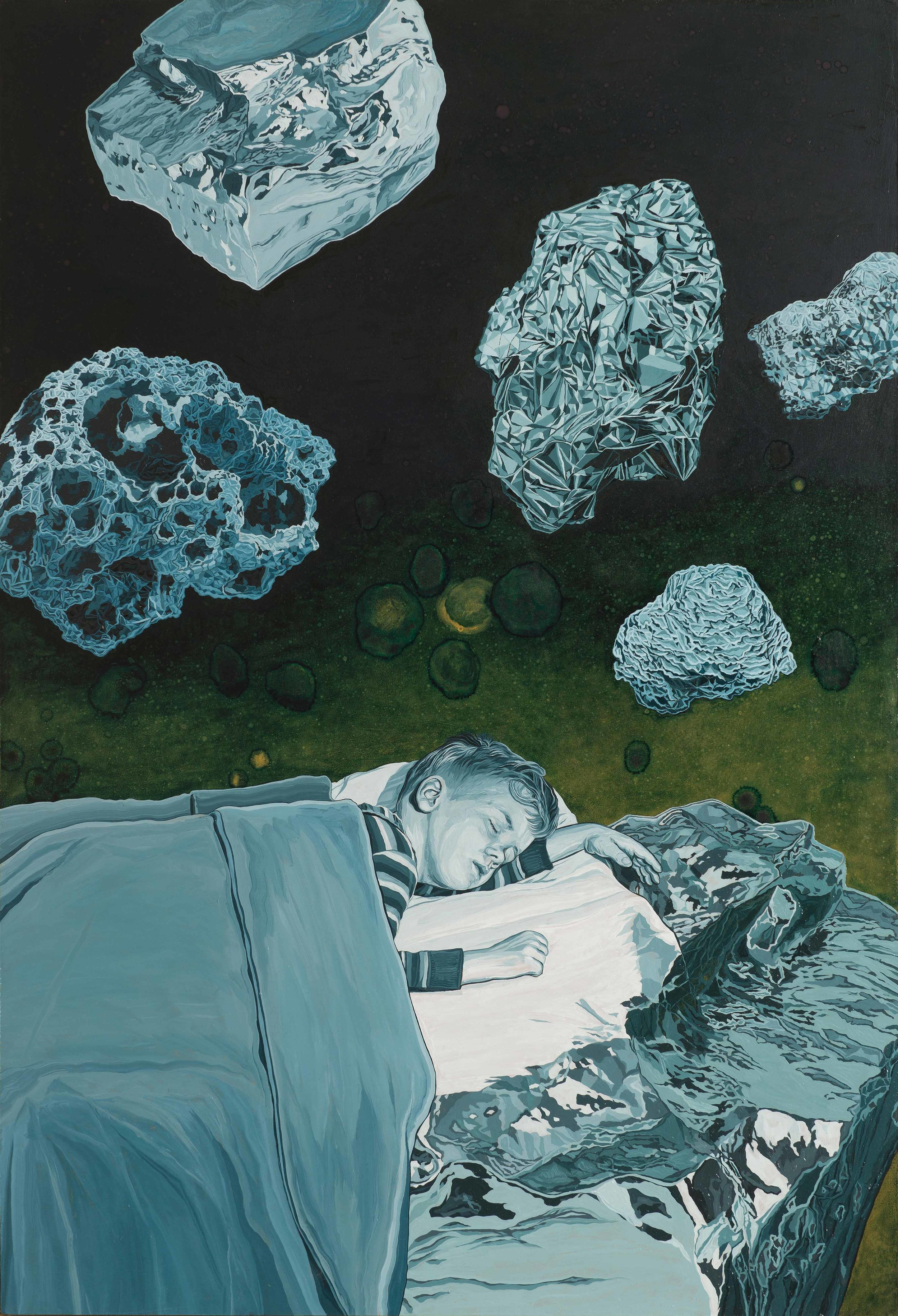 BRAD RUSBRIDGE  Crystal Voyage . 2016 oil in masonite 91.6 x 61.8 cm
