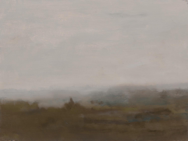 GREG WOOD  Stagg,  2015 oil on matt board, framed 33 x 43 cm SOLD
