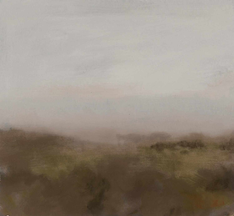 GREG WOOD  Gunns Marsh,  2015 oil on matt board, framed 33 x 35 cm SOLD