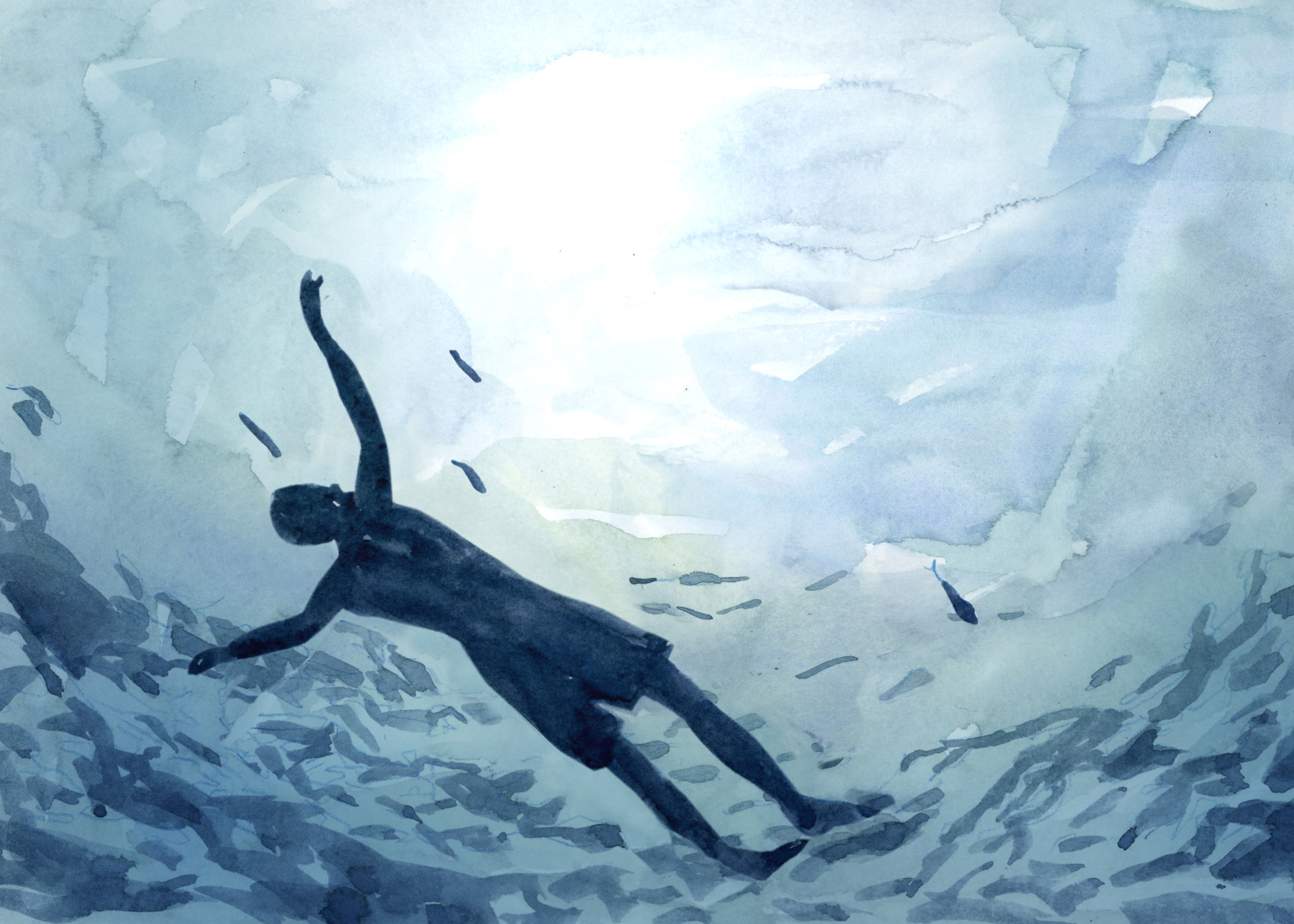 LUCY FAHEY  Being Buoyant (detail) . 2018 animation . 25 second loop