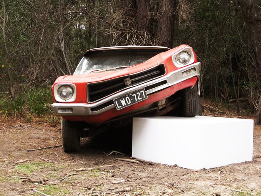 Jason Waterhouse  Glory Days  2010 1972 Holden HQ Kingswood station wagon, steel, body filler, automotive paint dimensions Variable