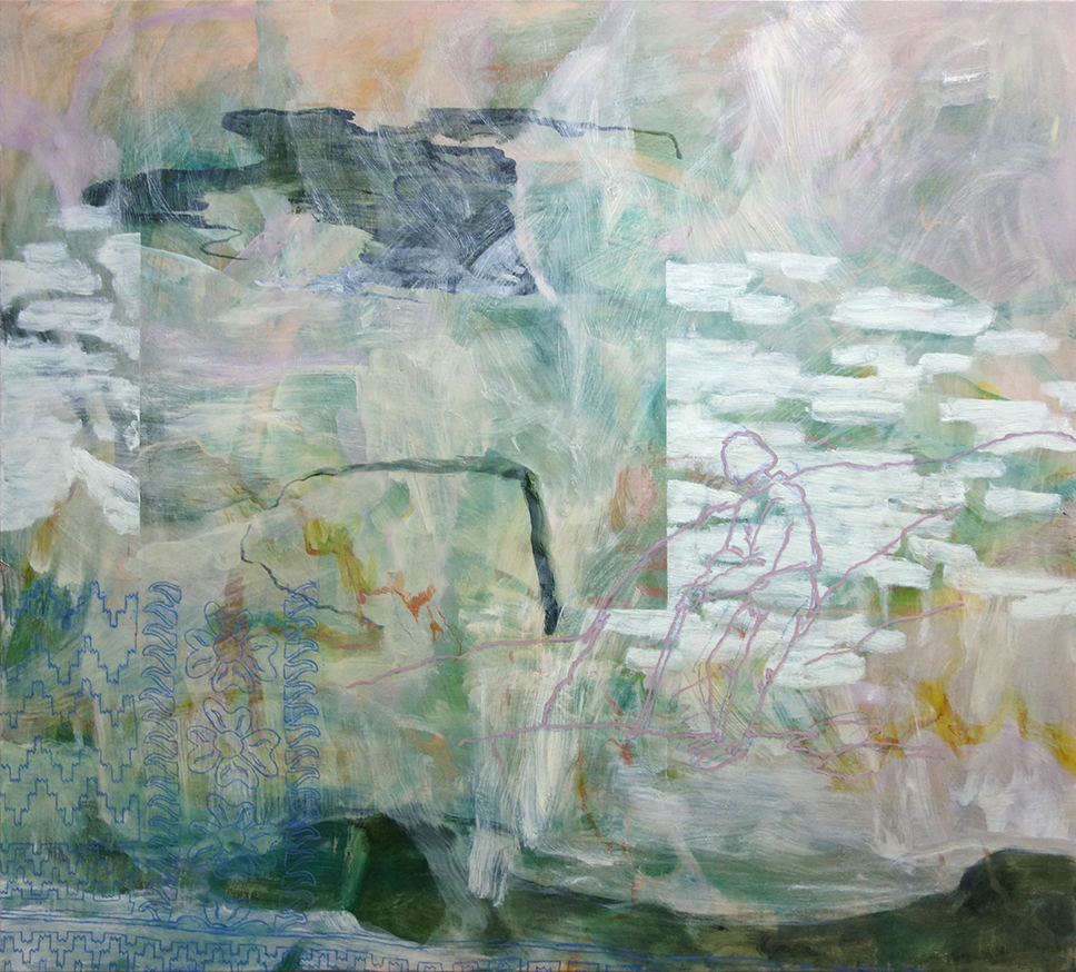 I'd Say That I Can Write Anything And I Would , 2017 oil and pastel on linen 128 x 148 cm