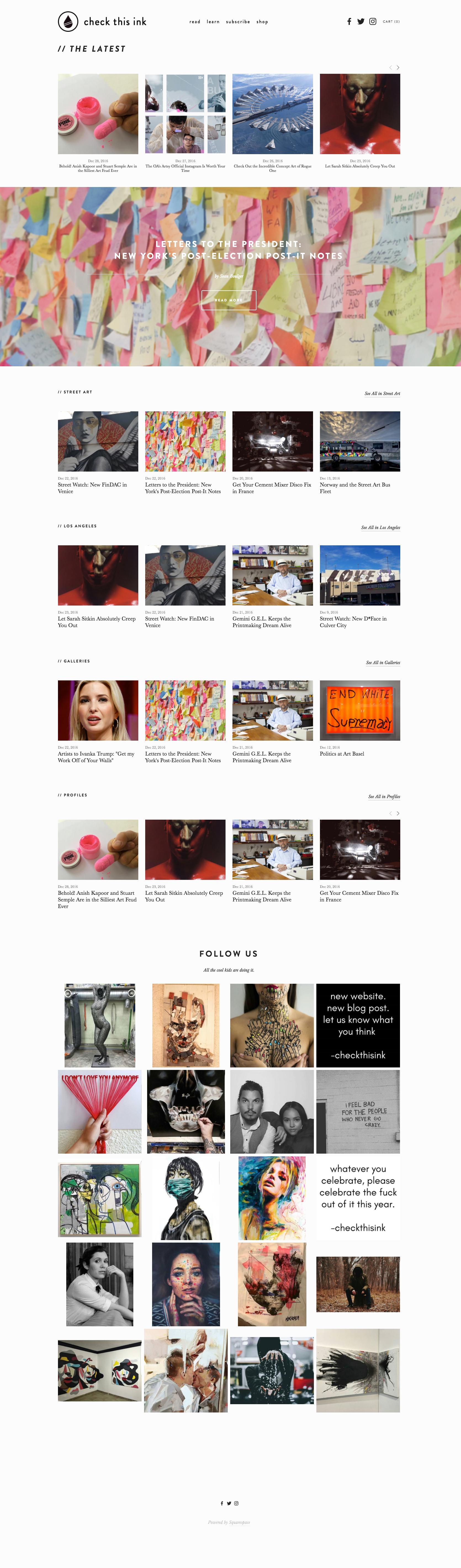 Check This Ink (blog design & all content)