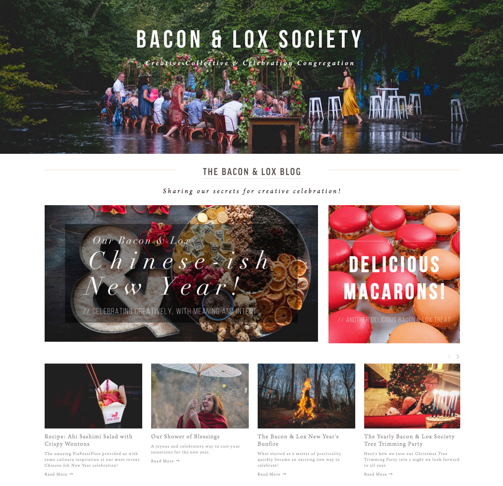 Bacon & Lox Society (all site copy & blog content)