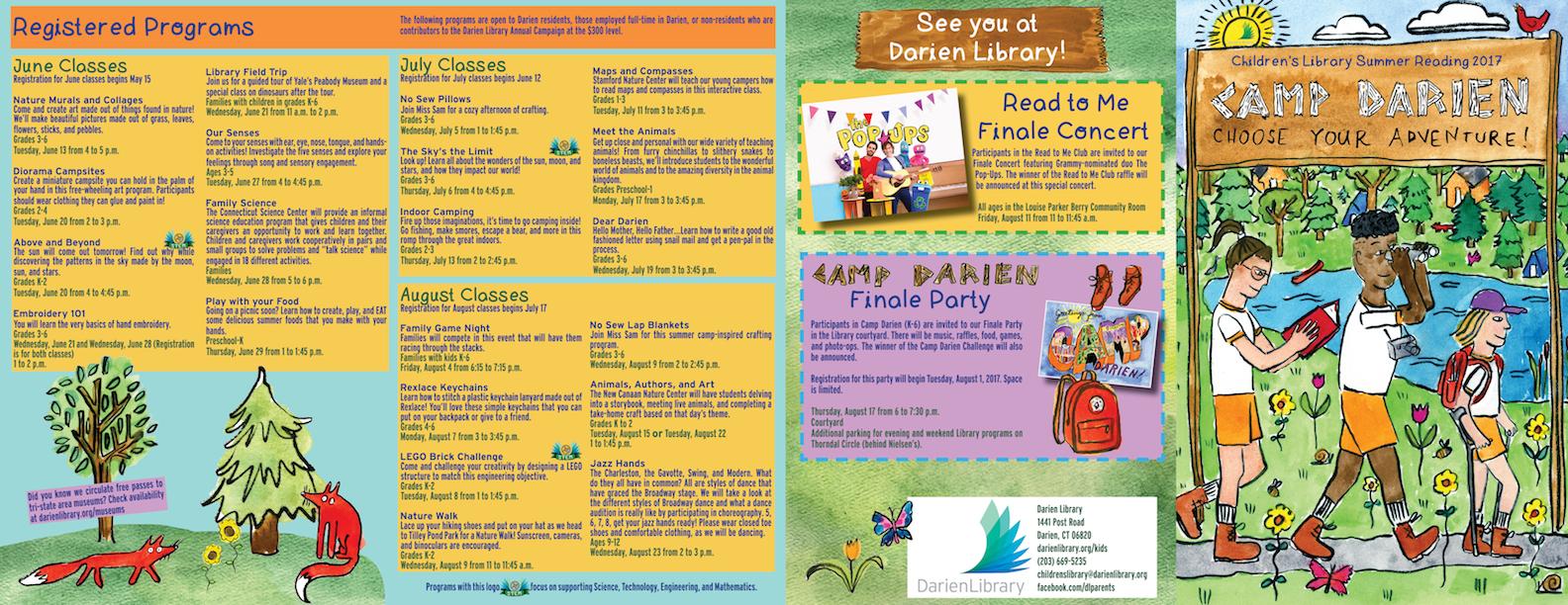 Darien Library Summer Reading 2017 Brochure
