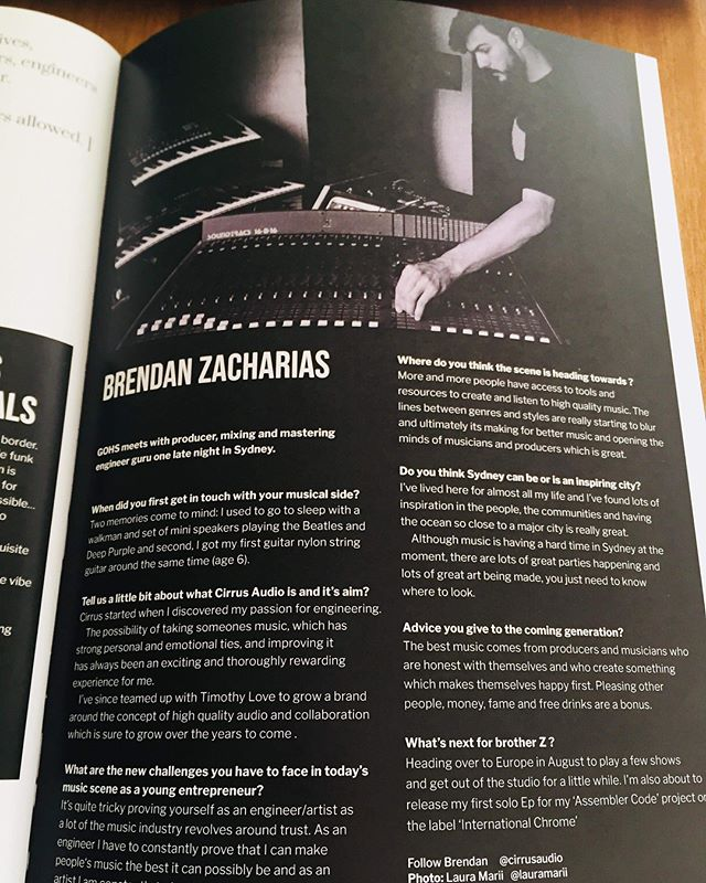 Really happy to have been featured in the magazine 'Insacious' - a nice interview with good friend @gohsgohsdancer and awesome shot by @lauramarii - big thanks to Pablo for making it happen 🐒