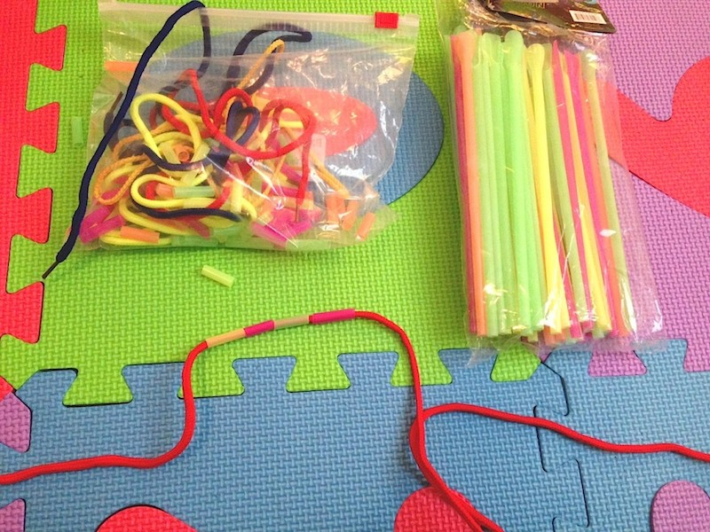 Homemade Beading for Toddlers