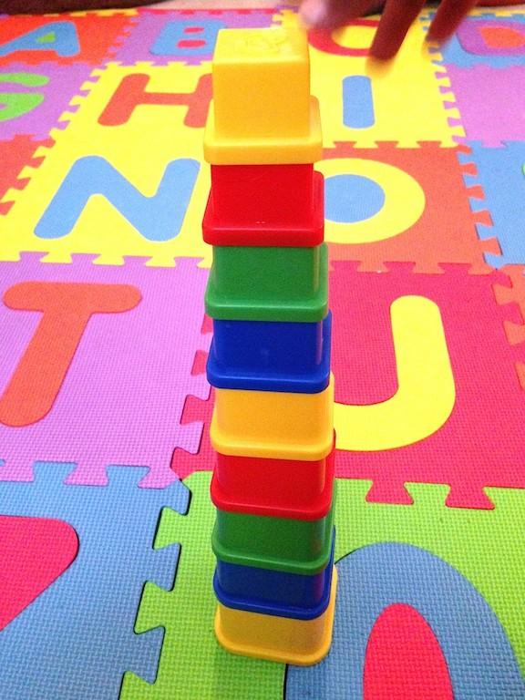 Plastic Stacking Squares 2