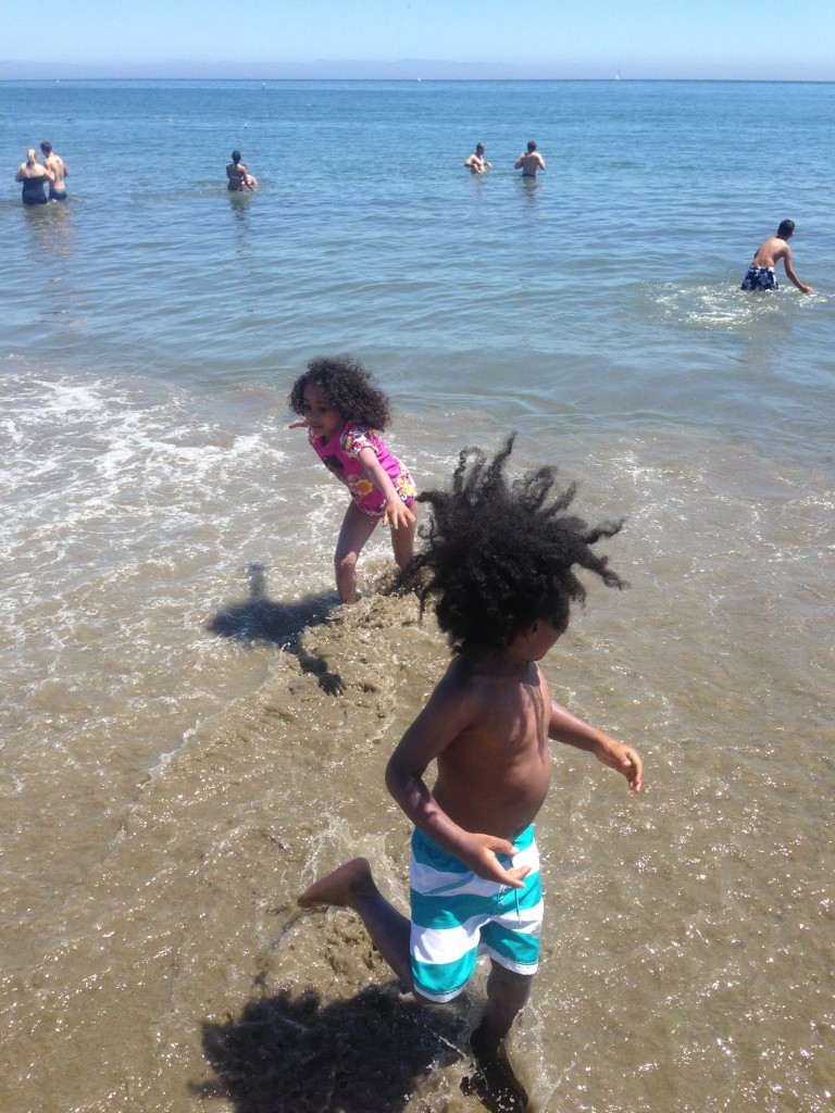 Maya and Little Sir at the Beach