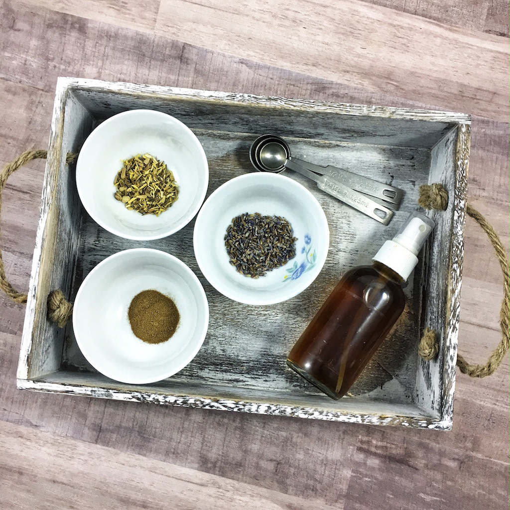Lavender, licorice root and white willow bark extract are the star herbs in my DIY toner.