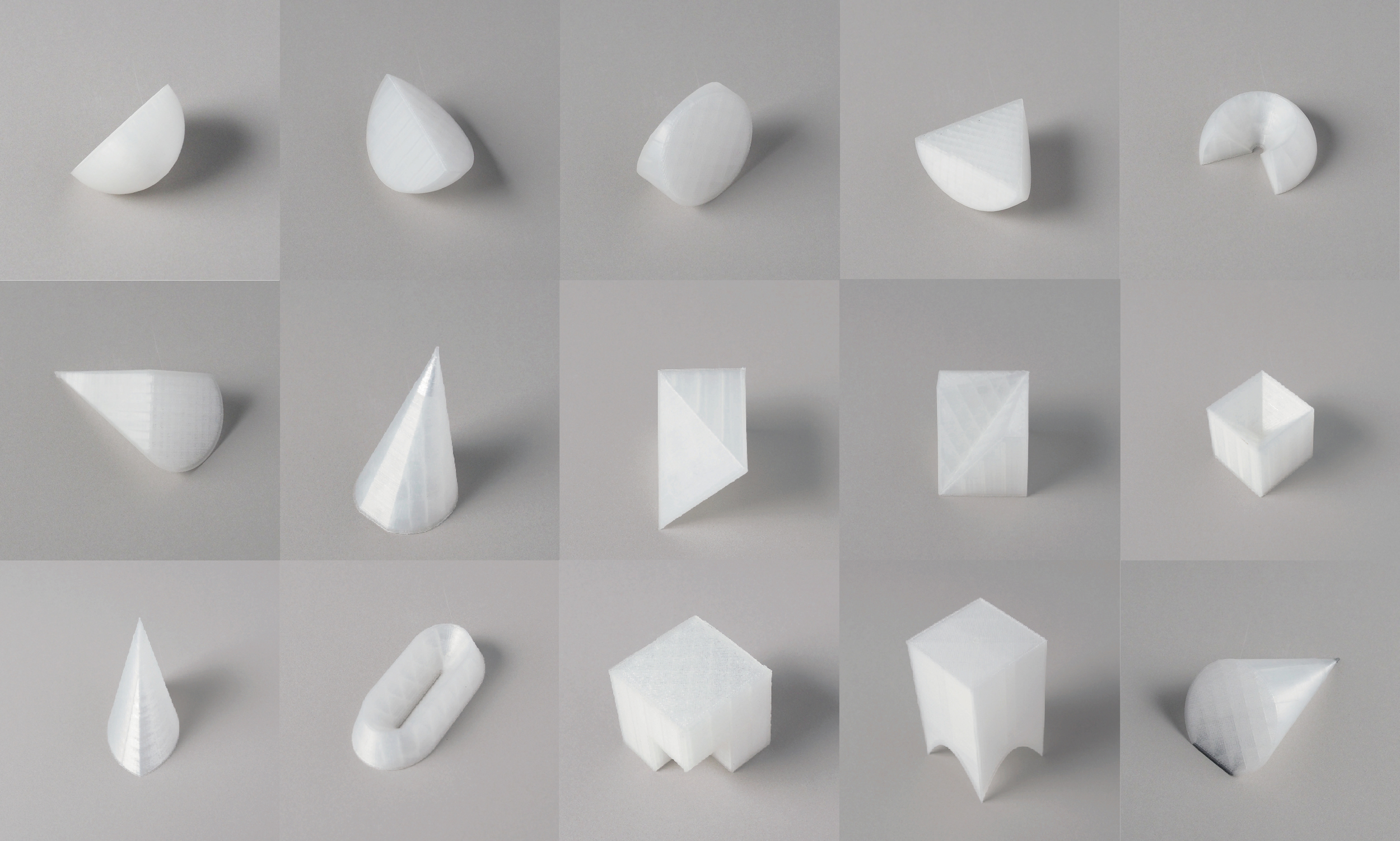 """Form study: Subreacted Series Size: 4"""" x 4"""" Material: PLA"""