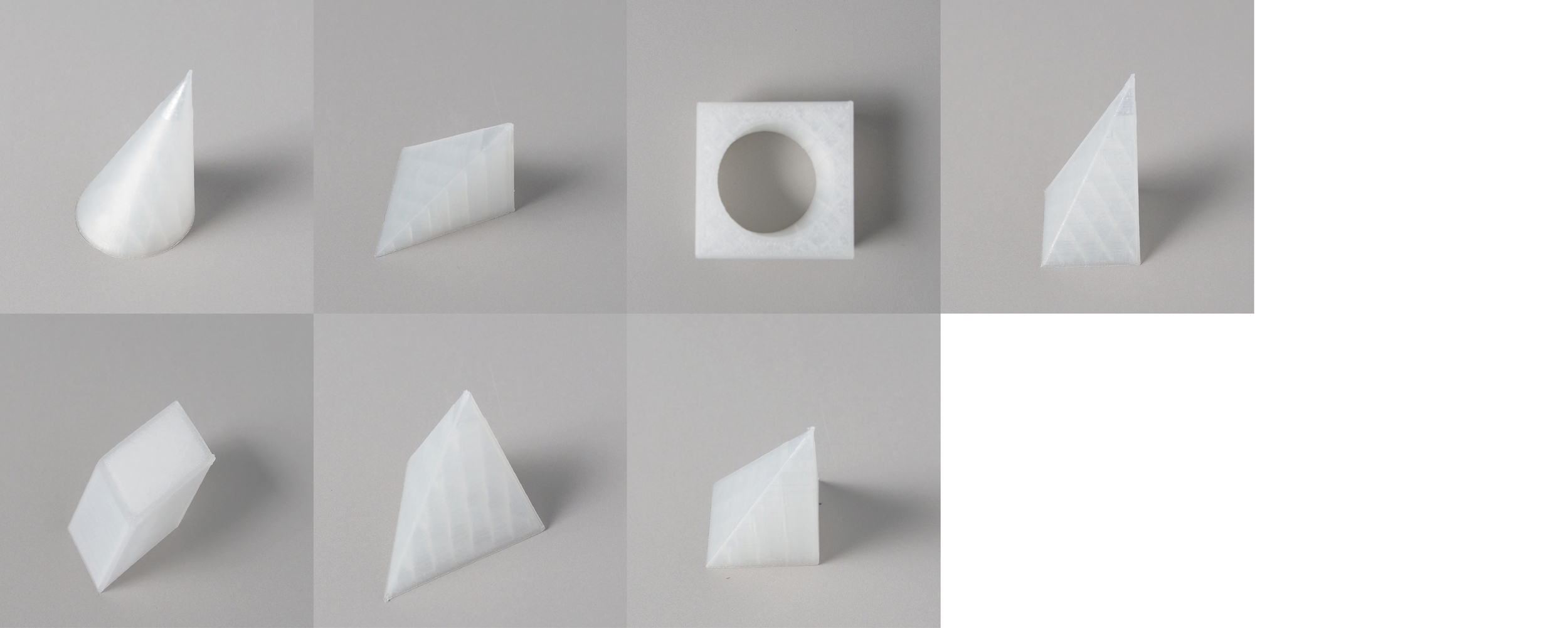 """Form study: Asymmetry Series   Size: 4"""" x 4""""   Material: PLA"""