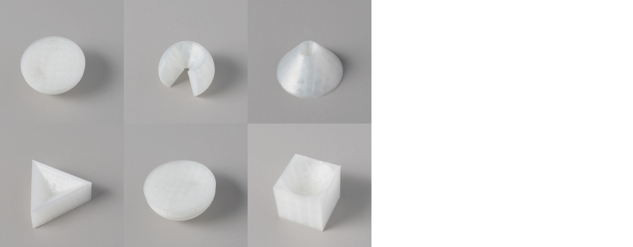 """Form study: Indent  Series   Size: 4"""" x 4""""   Material: PLA"""