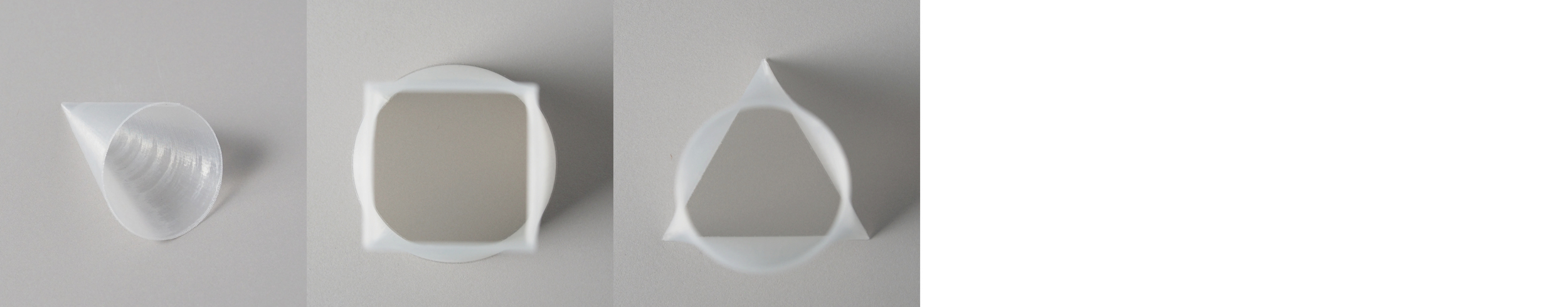 "Form study: Hollow   Series   Size: 4"" x 4""    Material: PLA"
