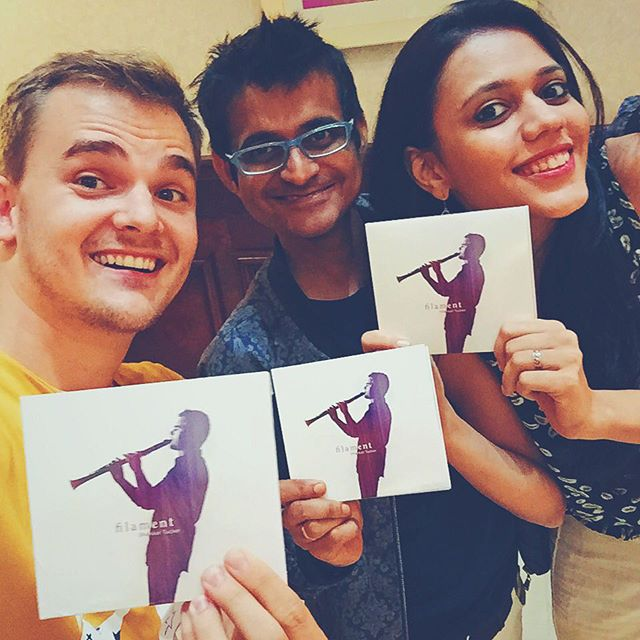 So happy to be with my good friends @maatibaani for the release of my new album! Be sure to download your copy today!