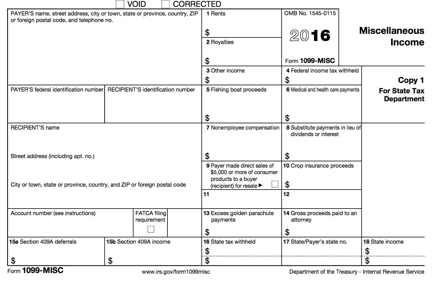 IRS Form 1099-MISC