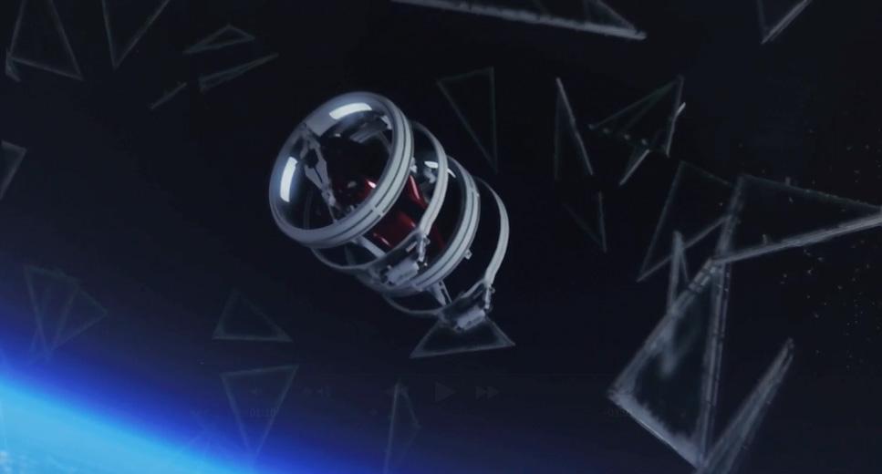 成層圏でのホログラムCM上映 「new TTを射出」