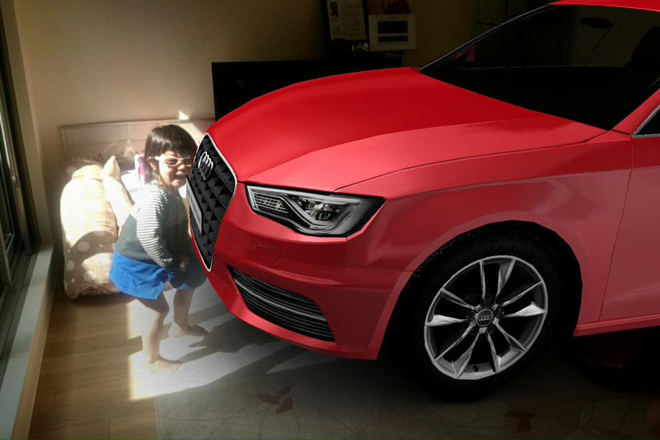Real Size Audi A3 「実物大A3  ARフォトコンテスト」