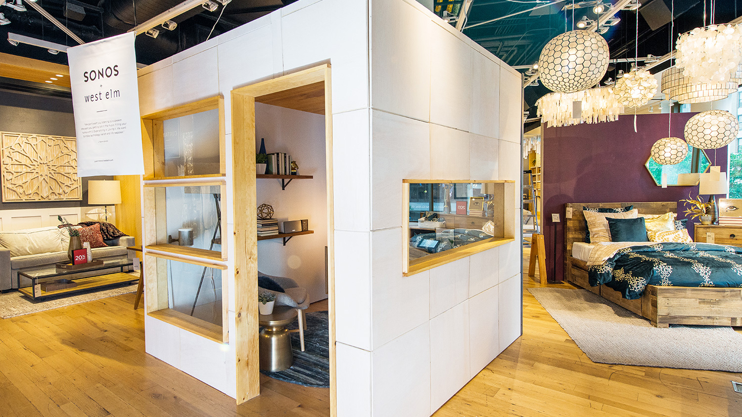 The Sonos Listening Lab in a West Elm Store