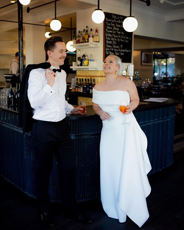 Another incredible shot of Chris & Georgia 🧡 After their first look, it was cocktail time 😍🍹 Photographed by super talent Amanda at @igotyoubabeandco Stunning gown by @onedaybridal ✨✨