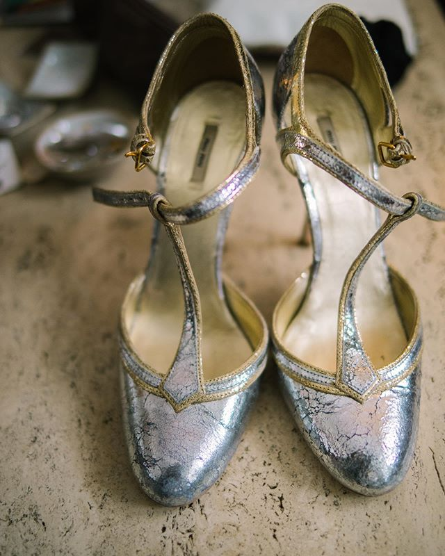 Silver dancing slippers for the beautiful Charlotte 💃🏼💫 Photographed by Tanya at @igotyoubabeandco ✨