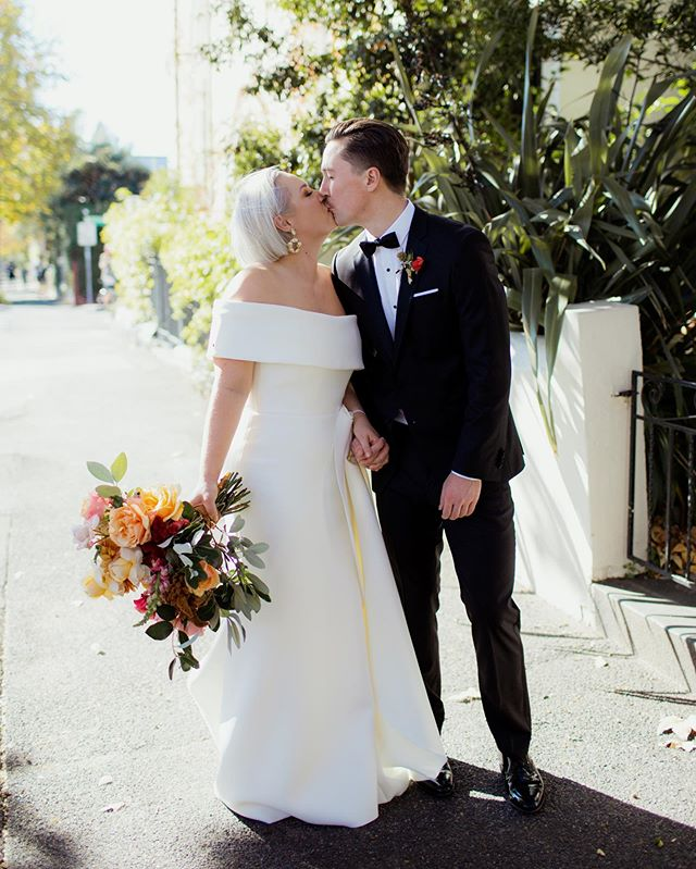 In case you didn't catch it, Georgia & Chris's beautiful day is now fresh on the blog ✨✨ Check it out, link in profile 🧡 Photographed by Amanda and Steph from @igotyoubabeandco Incredible vendors @onedaybridal @makeitbeautiful_kim @noisyritual @loveislovecelebrants