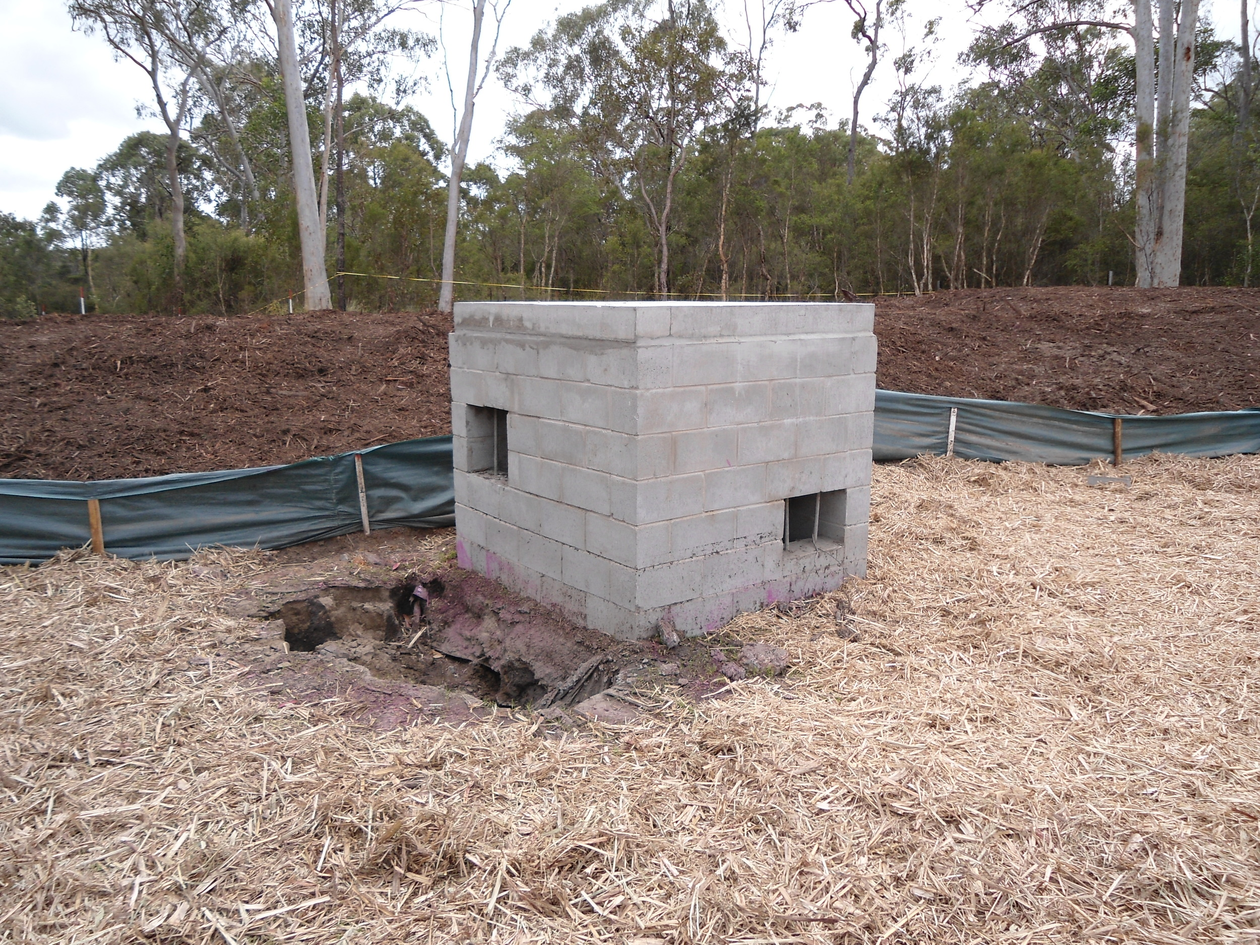 Greenpark Drive Bioretention System - The 'Ned Kelly' Outlet Pit