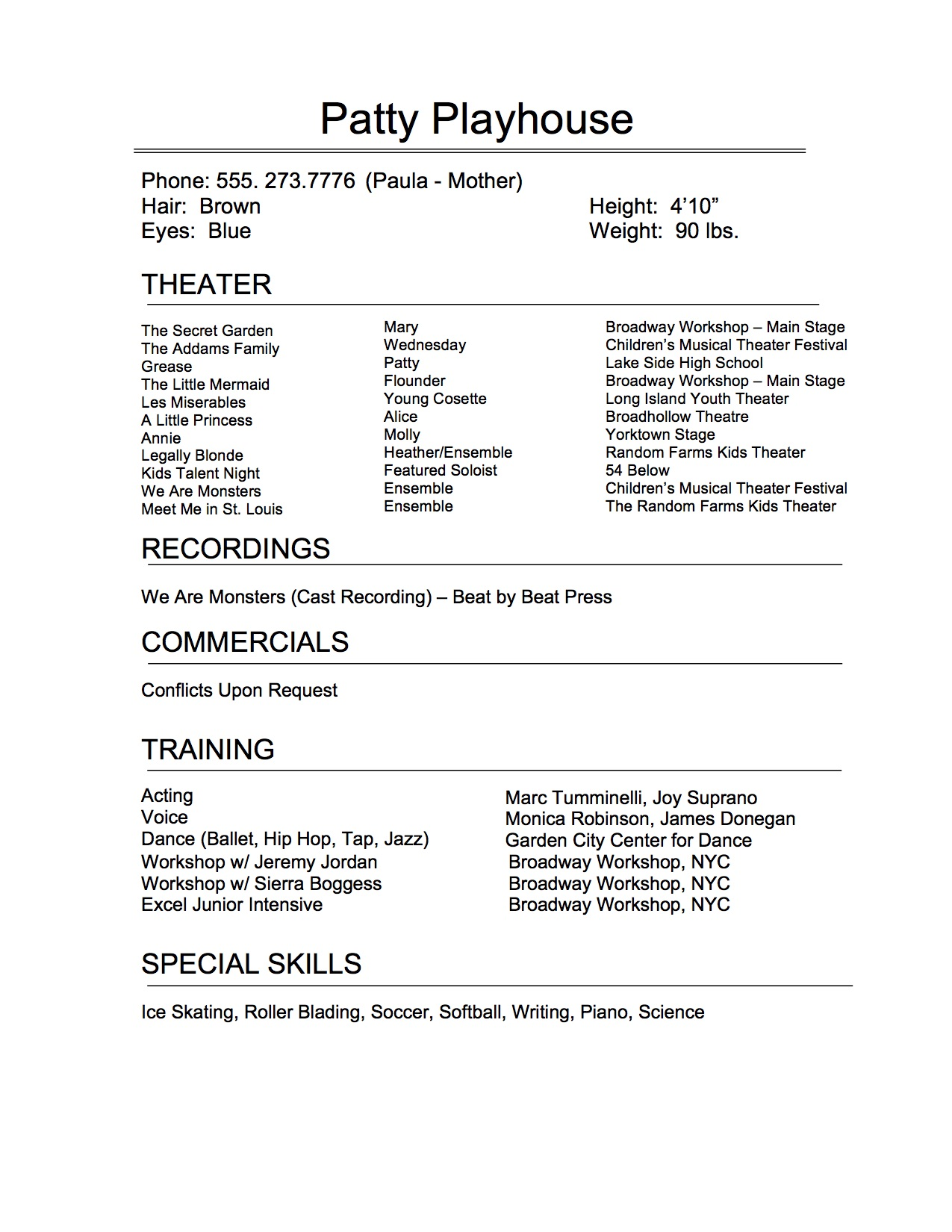 Resume - The wingman to the headshot has finally left the building as well. You may have guessed it, most casting directors aren't asking for resumes either. At this point I've been lucky to go on hundreds of auditions, and casting has reviewed my resume with me maybe 10 times over the span of five years. Subsequently, asked me where I went to college to study and spend $50,000 a year to get my degree, only 3 times!! 😢The Takeaway: Make sure you keep your resume updated so that if casting directors or producers ask you about what you've done you can shoot off some past credits. It is also very important that you update your resume after every job on sites like Actor's Access, Casting Frontier, and IMDb. Once again, you don't need to spend money printing hundreds of resumes, keep a few in the car and that's it.