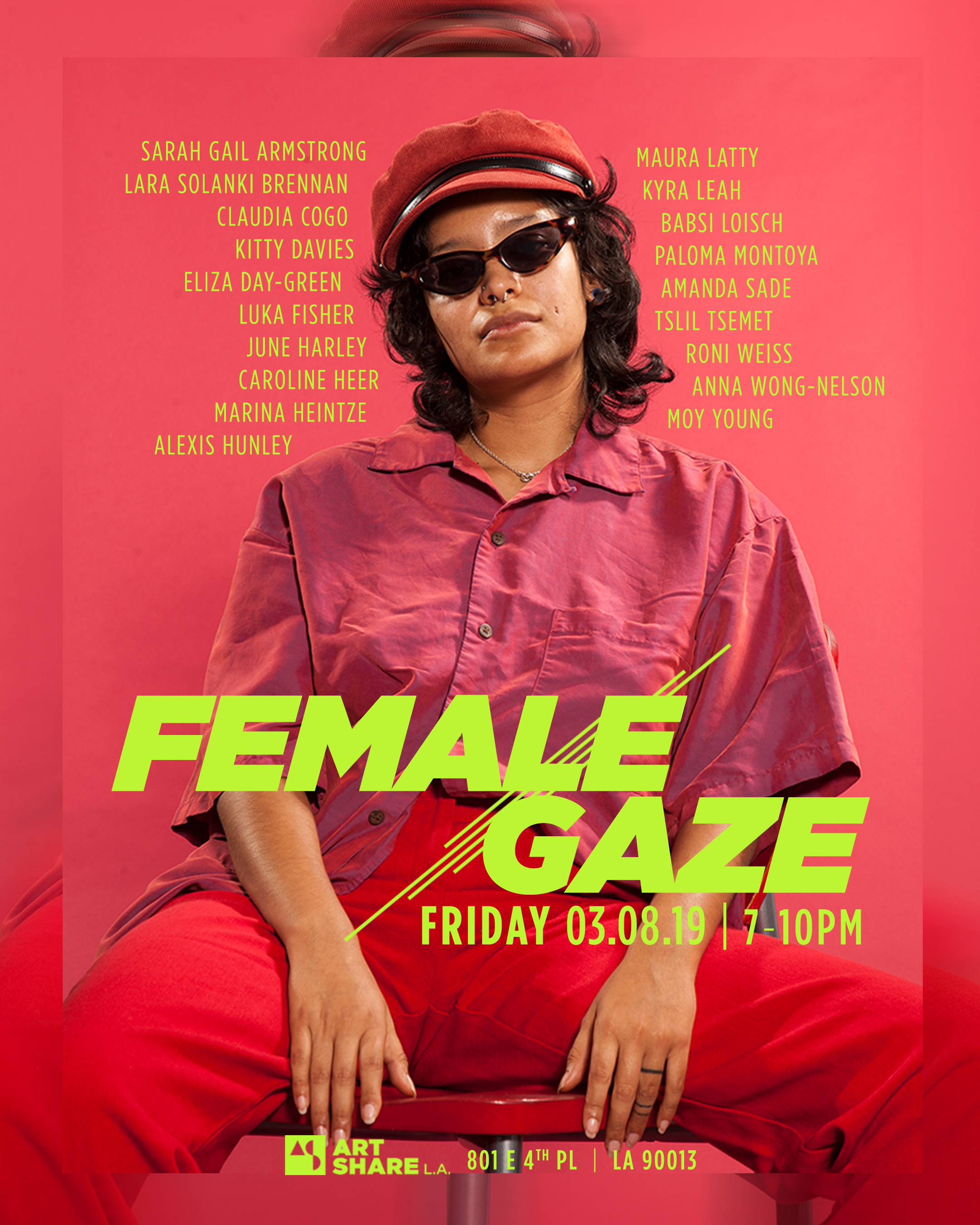 """Female Gaze"" Art Show for ArtShare LA"