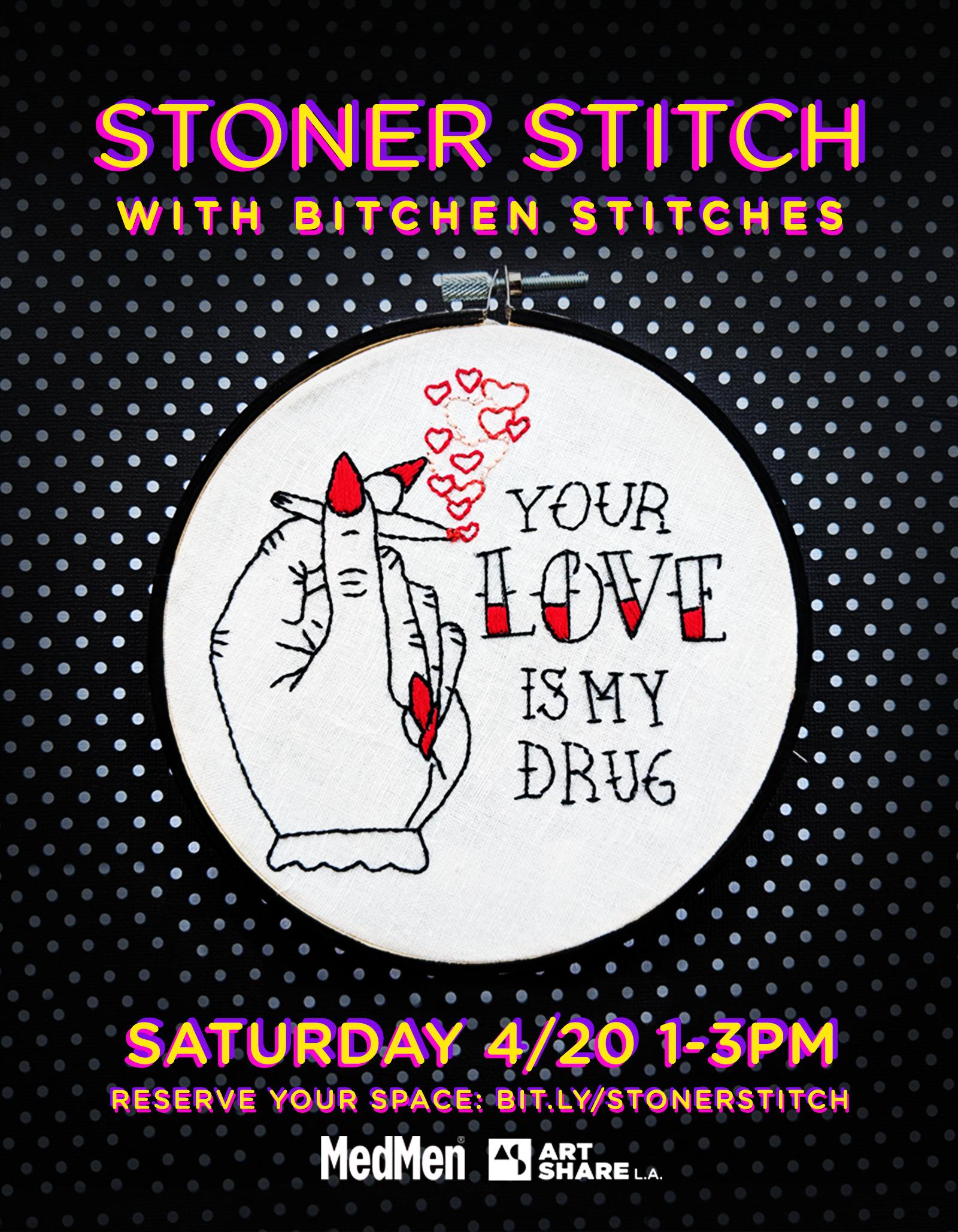 """Stoner Stitch"" Art Show for ArtShare LA"