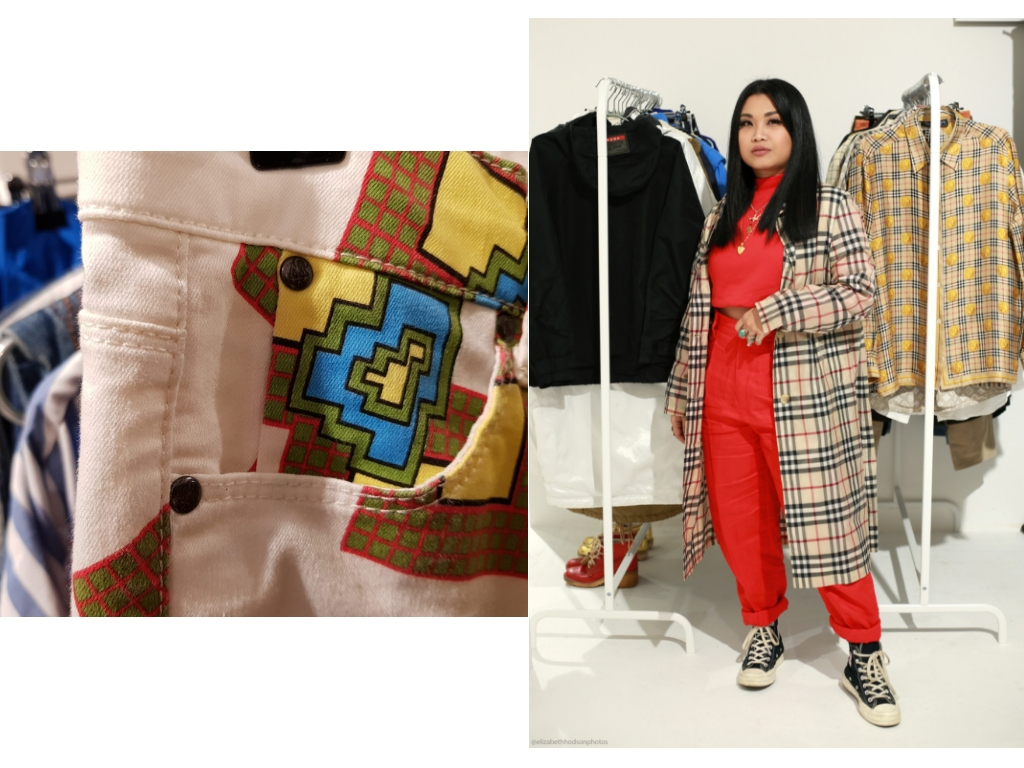 Thidarat Kaha of Basement Six, with her collection.