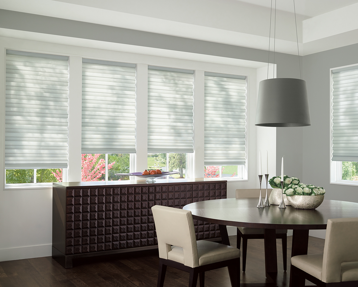 Roman Shades for Light-Filtering Home Windows Near Encinitas, California (CA) like Soft Soft in Dining Rooms