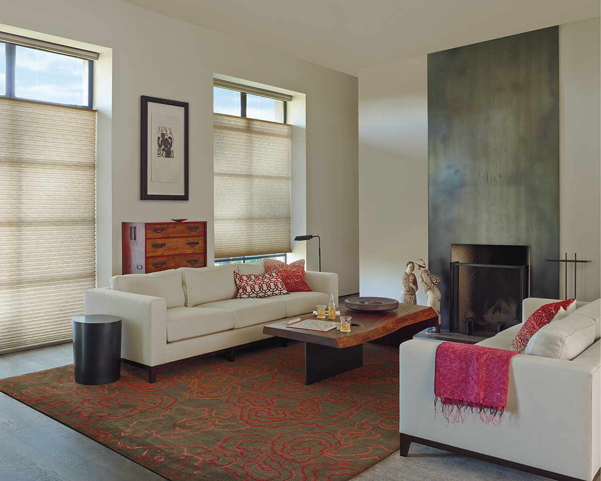 Alustra® Collection of Custom Shades for Windows Near Carlsbad, California (CA) like Honeycomb in Living Rooms
