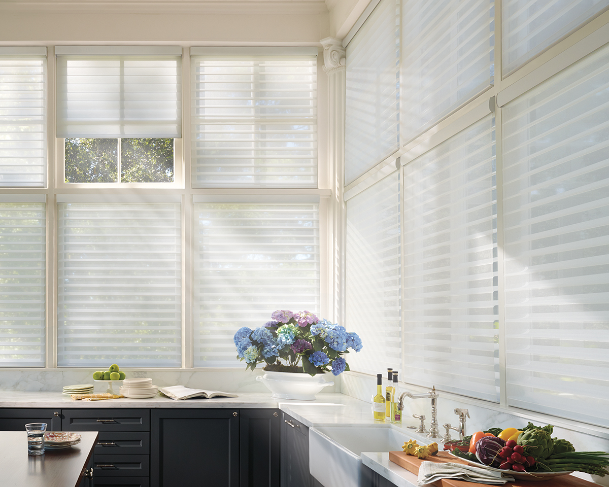 Alustra® Collection of Custom Shades for Windows Near Carlsbad, California (CA) like Silhouette in Kitchens