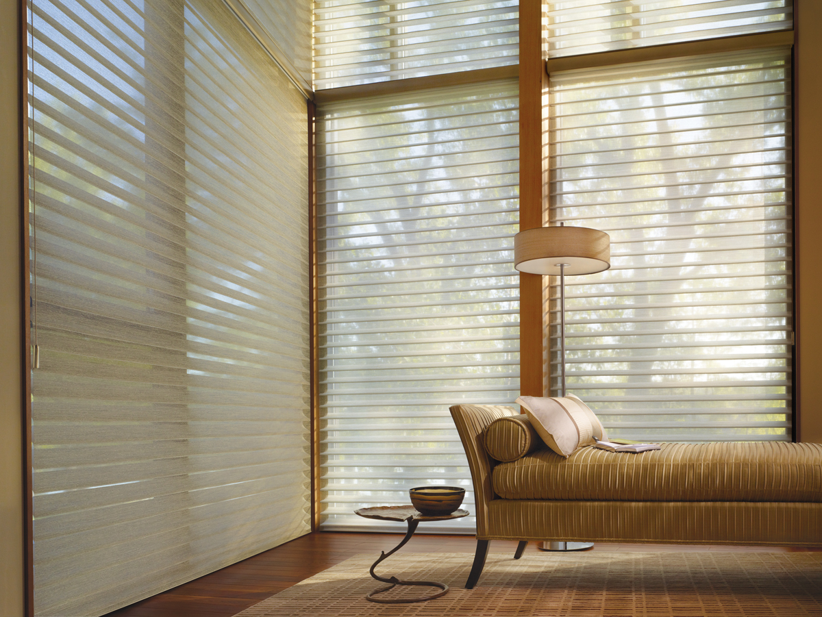 Alustra® Collection of Custom Shades for Windows Near Carlsbad, California (CA) like Silhouette in Living Rooms