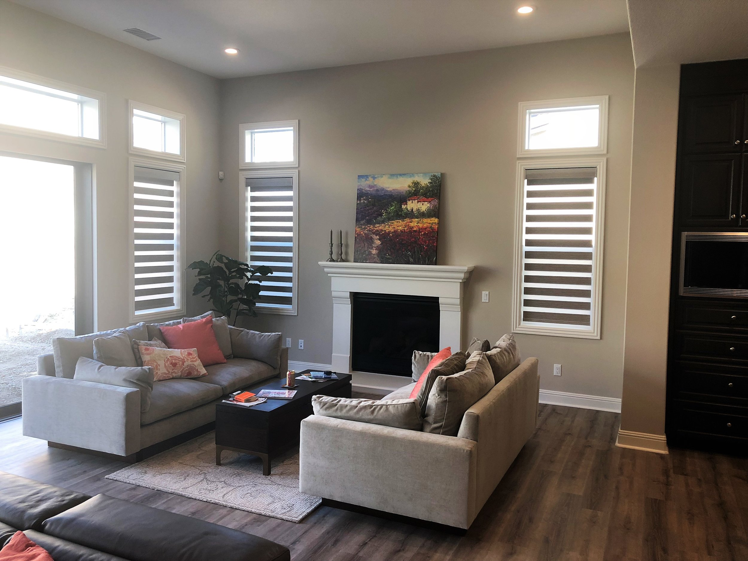 Gallery of Custom Blinds, Shutters and Shades in Carlsbad, California (CA) like Cellular in Living Rooms